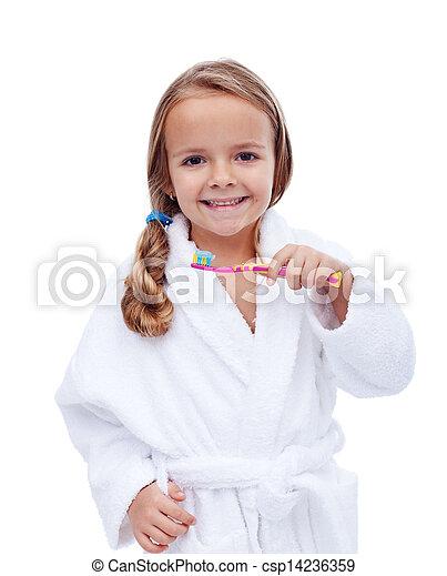 Stock de fotos poco ni a albornoz lavado dientes imagenes almacenadas im genes - Albornoz nina ...