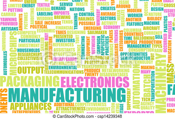 Drawing of Manufacturing Machinery Process as a Art Concept ...