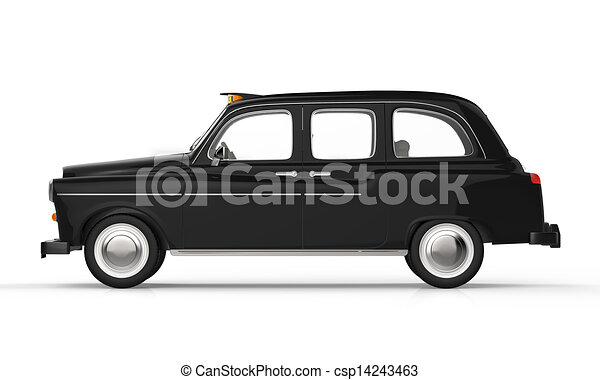 illustration de taxi noir londres noir londres taxi isol sur csp14243463. Black Bedroom Furniture Sets. Home Design Ideas