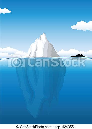 Clipart vector of iceberg csp14243551 search clip art for Clipart iceberg