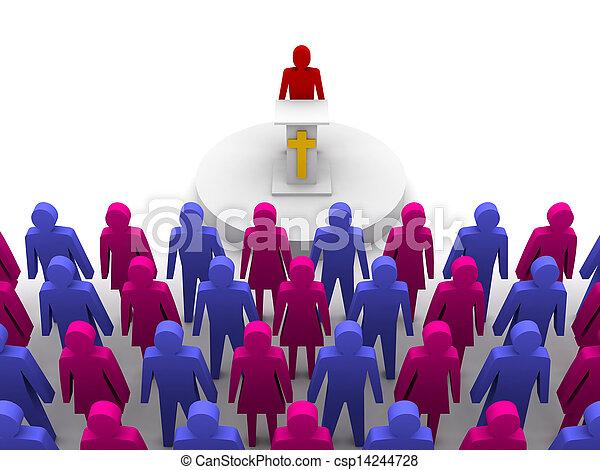 Sermon in church. Pastor, preacher - csp14244728