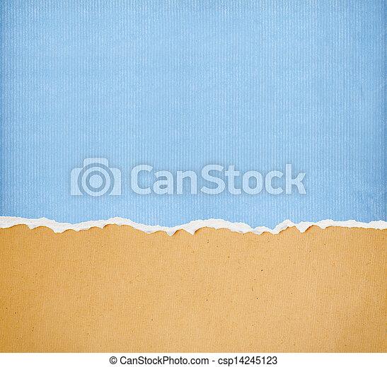 texto, rasgado, papel, libre, espacio - csp14245123