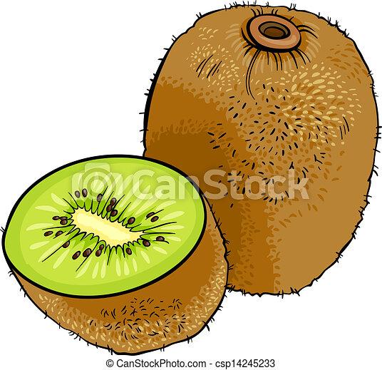 Kiwi Fruit Drawing Kiwi Fruit Cartoon