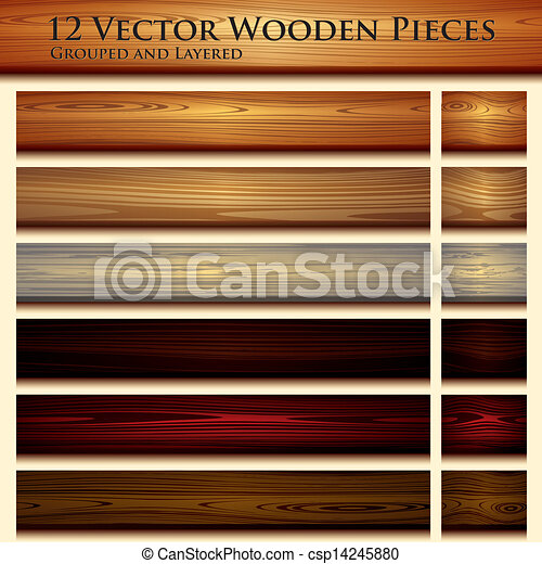 Wooden texture seamless background illustration - csp14245880