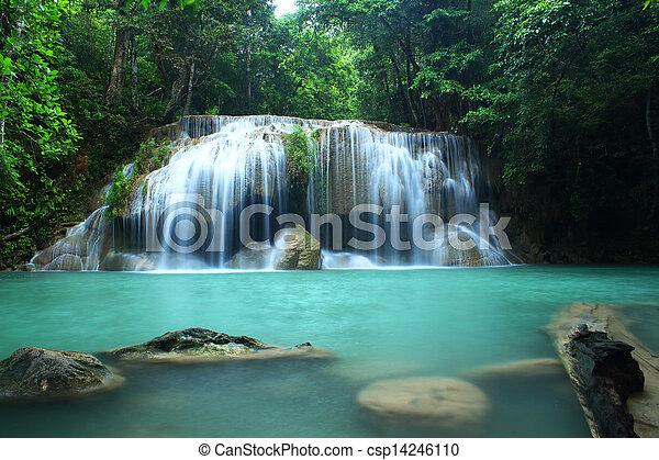 Erawan Waterfall, Kanchanaburi, Tha - csp14246110