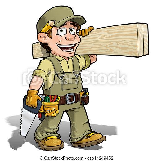 uomo tuttofare, cachi, -, carpentiere - csp14249452