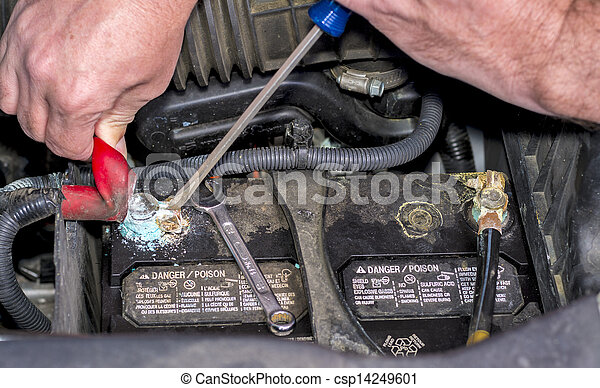 Automobile battery replacement - csp14249601