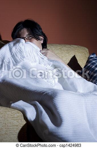 woman terror halloween - csp1424983