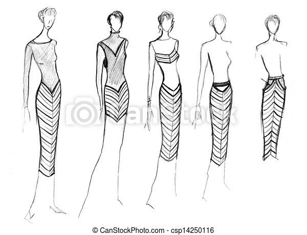 Range Of Clothing With A Diagonal Stock Illustration Instant Download Csp14250116