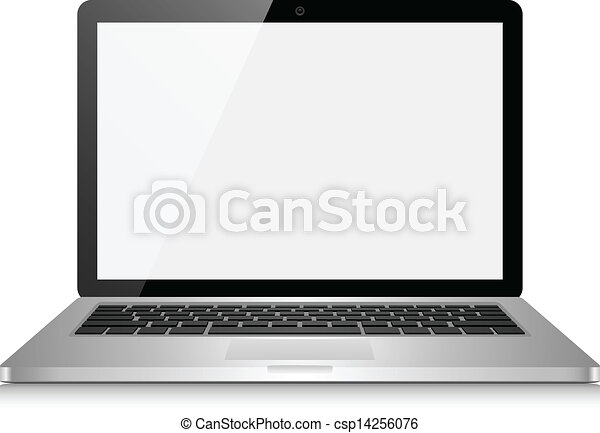 Laptop Computer with Blank Screen - csp14256076