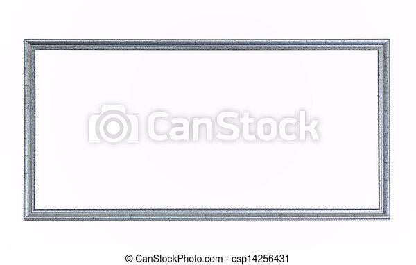 Antique silver frame - csp14256431