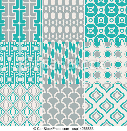 seamless retro pattern print - csp14256853