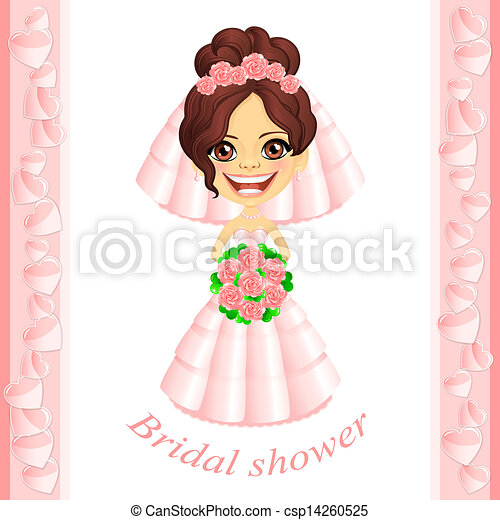 Bridal Shower Icon Pink Bridal Shower Invitation