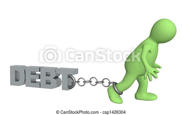 Hostage of the debt - csp1426304