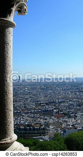 Aerial view of Paris          - csp14263853