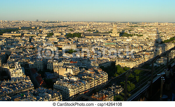 Aerial view of Paris            - csp14264108