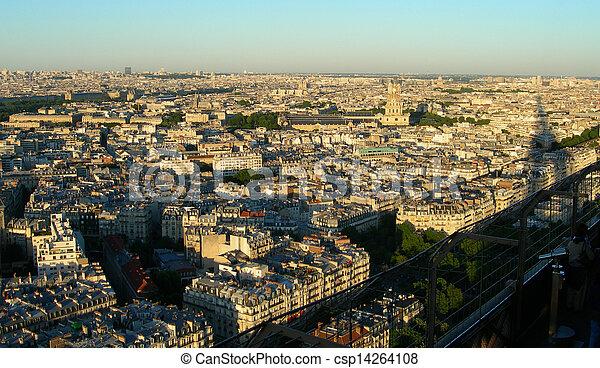 Aerial view of Paris            - csp14264108