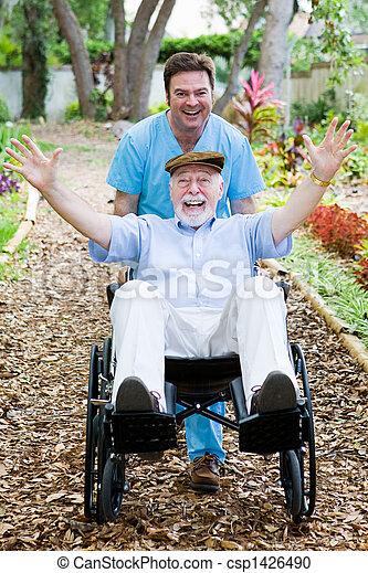 Disabled Senior - Fun - csp1426490