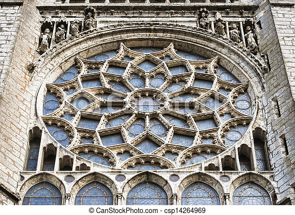 Stock Photography Of Chartres Cathedral Interior Rose Window