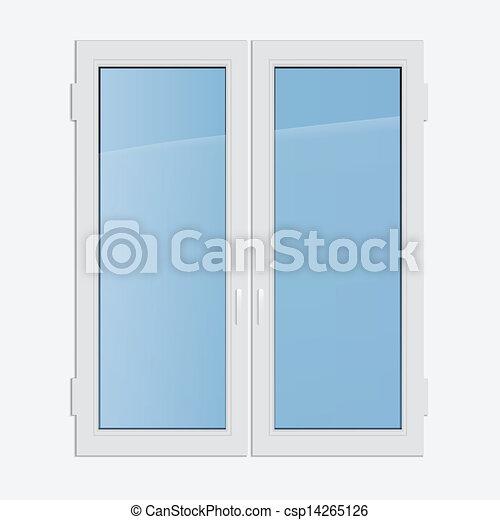 Vektor doppelg nger fensterfl gel plastik fenster for Fenster 800x800