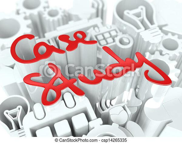 Case Study Concept on White Background. - csp14265335