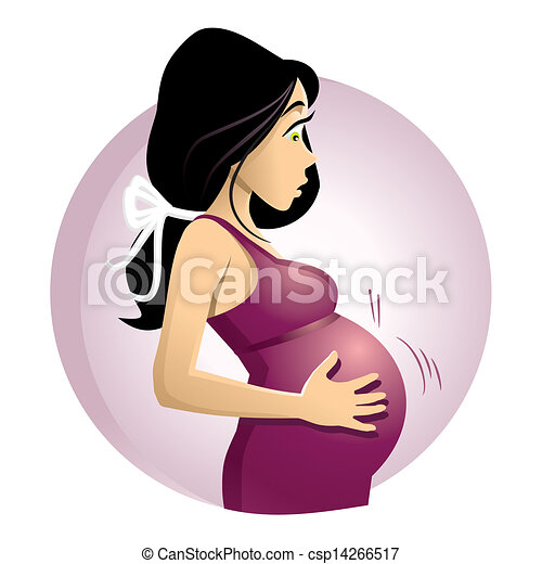 Expecting A Baby Clipart Pregnant Woman - csp14266517