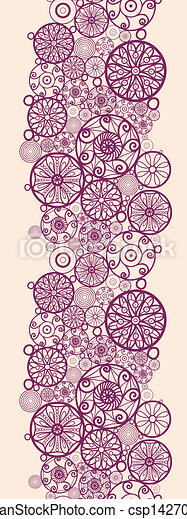 Clipart Vector of Abstract ornamental circles vertical ...