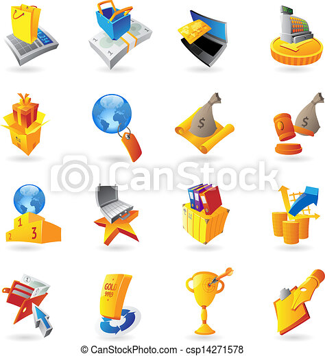 Icons for retail commerce - csp14271578