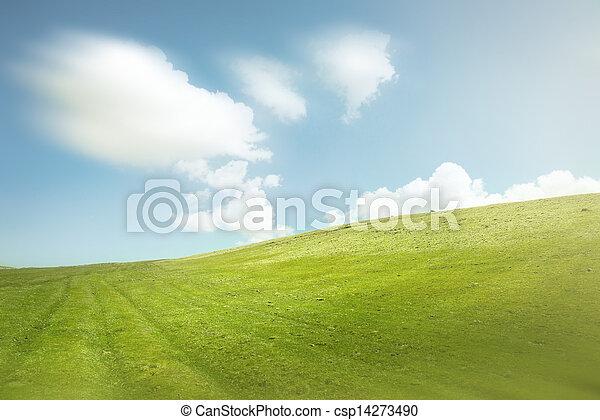 verde blu, cielo, colline - csp14273490