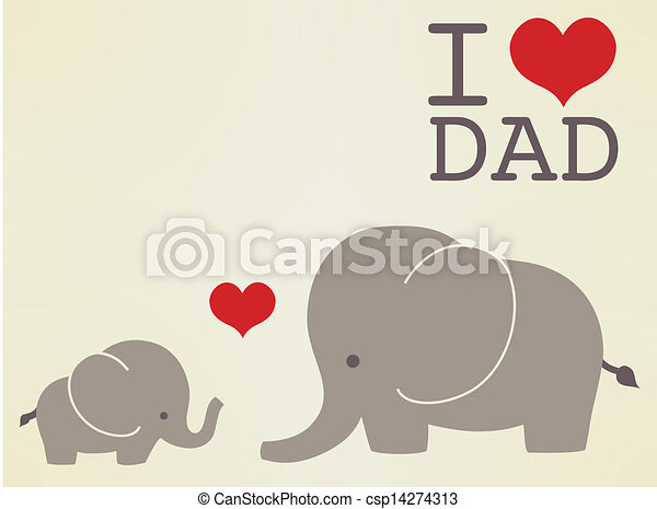 Happy fathers day card  - csp14274313