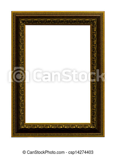 The antique wood frame - csp14274403