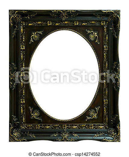 The antique wood frame - csp14274552