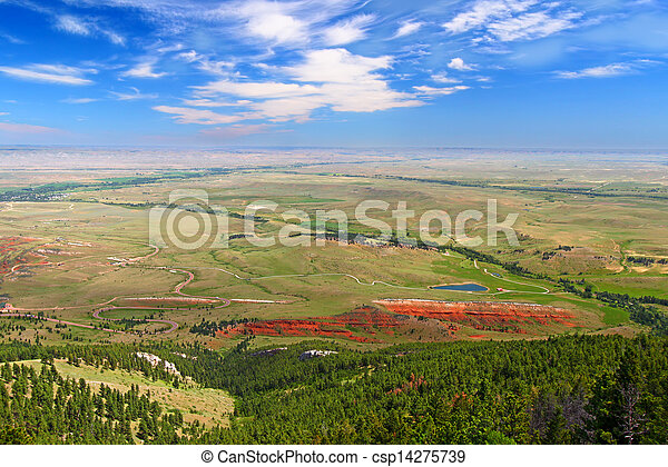 Wyoming Countryside Scenery - csp14275739