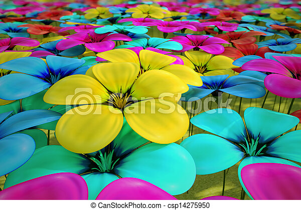 Field of flowers. - csp14275950