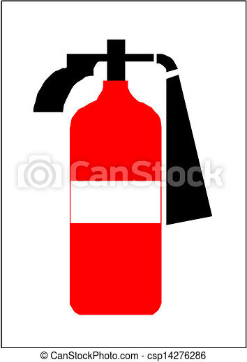 Vector of Fire extinguisher sign csp14276286 - Search Clip Art ...
