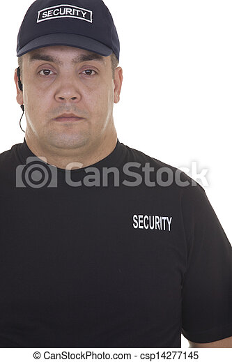 security guard isolated on white - csp14277145