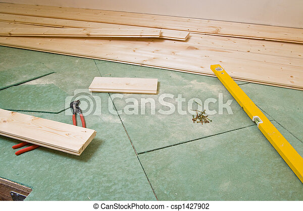 construction of hardwood floor - csp1427902