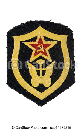 soviet army automobile troops badge isolated - csp14279215