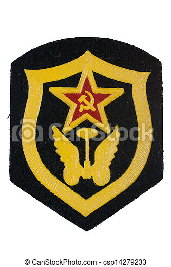 soviet army automobile troops badge isolated - csp14279233