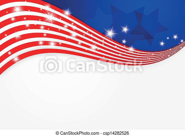 American flag background  - csp14282526