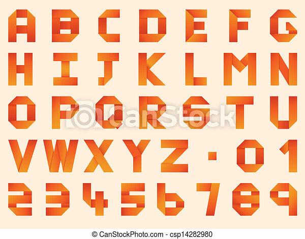 Image image origami alphabet letters origami alphabet instructions - Vecteur De Origami Alphabet Origami Pli 233 Papier