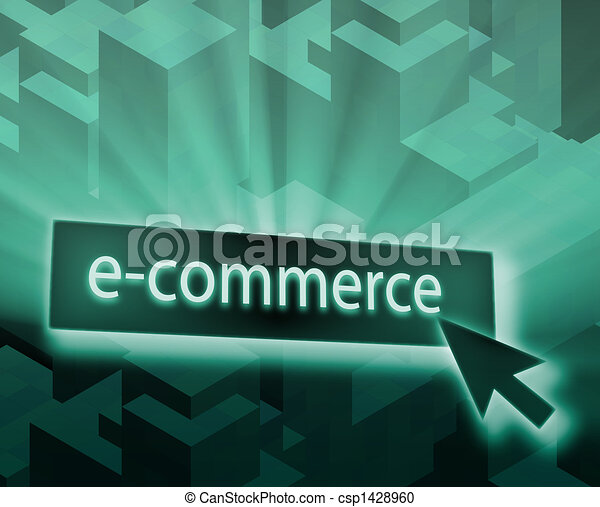 Ecommerce button - csp1428960