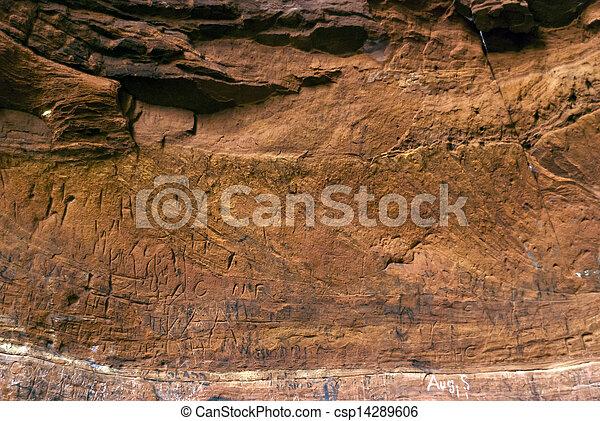 Cave on the Hiking Trail Eifelsteig - csp14289606
