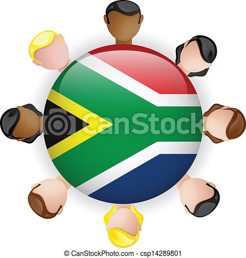 Flag Button Teamwork People Group - stock illustration, royalty free ...