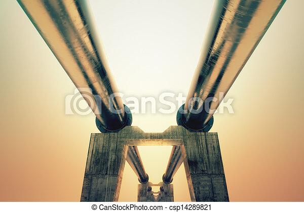 Pipeline sunset. - csp14289821