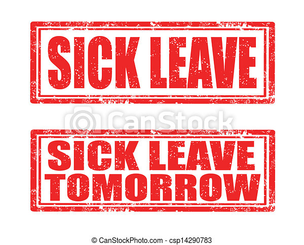 Sick leave-stamps - csp14290783