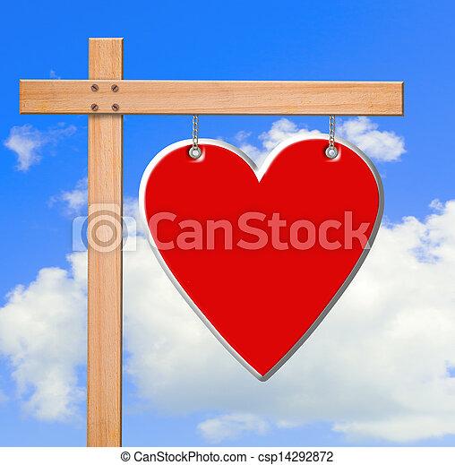 Valentine's day  sign - csp14292872