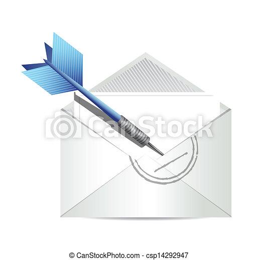 target communication email concept illustration - csp14292947
