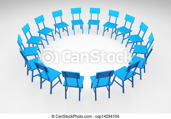 Stuhlkreis symbolkarte  Stock Illustration von stuhlkreis - 3d, render, abbildung, von ...