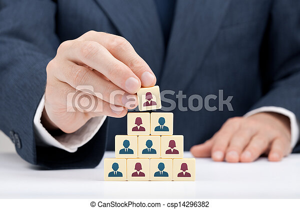 Woman CEO and human resources - csp14296382